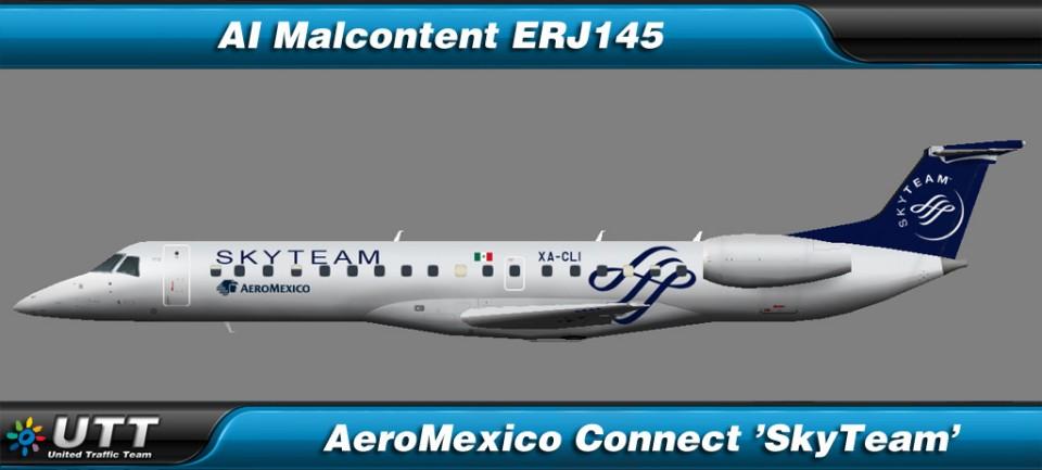 Embraer ERJ-145LR AeroMexico Connect 'SkyTeam'