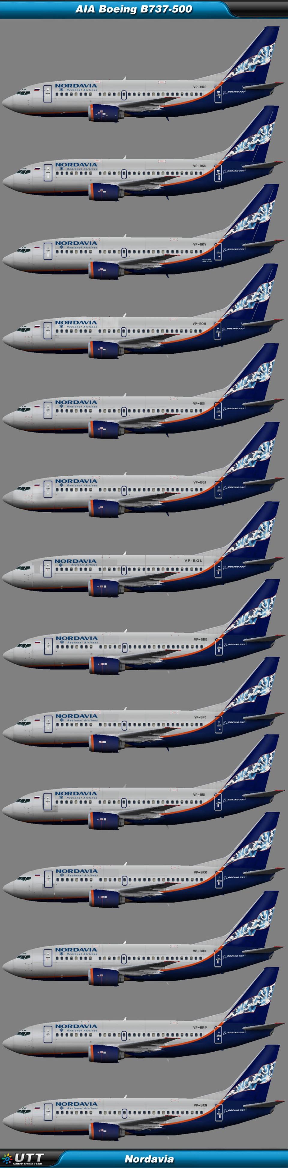 Boeing B737-500 Nordavia
