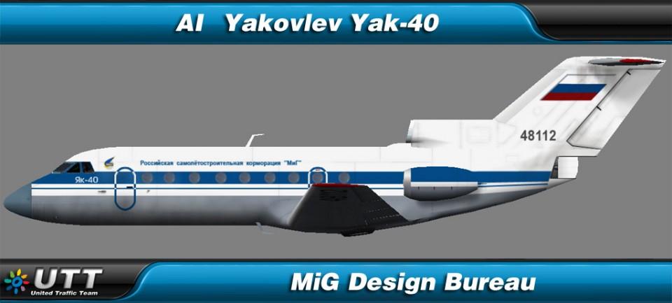 Yakovlev Yak-40 MiG Design Bureau