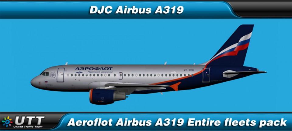 Airbus A319 Aeroflot (Entire fleet pack)