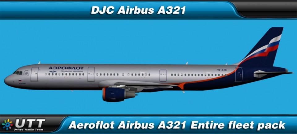Airbus A321 Aeroflot (Entire fleet pack)