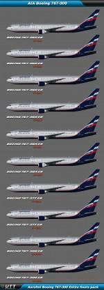 Boeing B767-300 Aeroflot (Entire fleets pack)