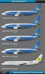 Boeing B737 Dniproavia (Entire fleet pack)