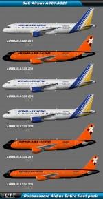 Airbus A320,A321 Donbassaero (Entire fleet pack)