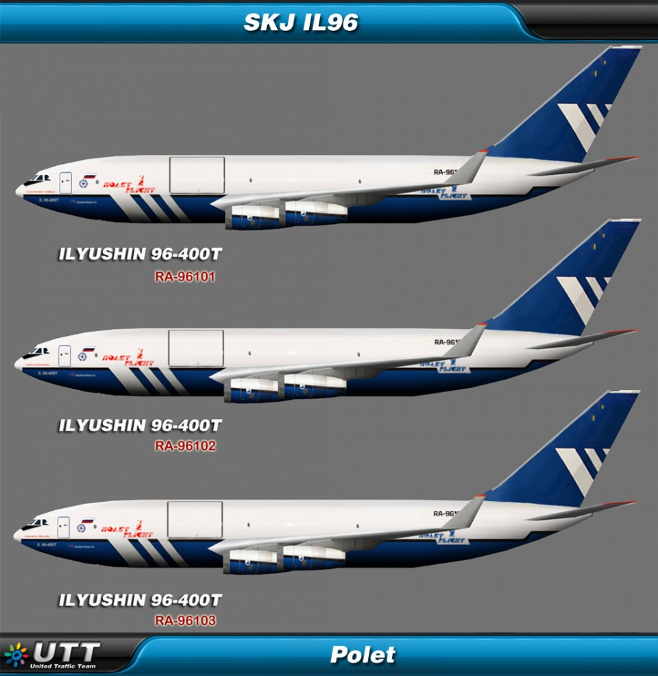 Ilyushin Il-96 Polet (Entire fleet pack)
