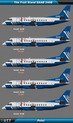 Saab 340 Polet (Entire fleet pack)