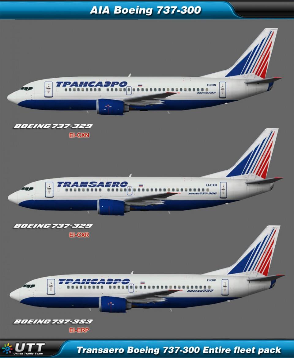 Boeing B737-300 Transaero (Entire fleet pack)