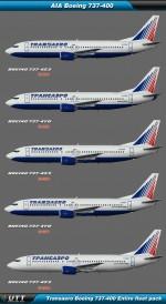 Boeing B737-400 Transaero (Entire fleet pack)