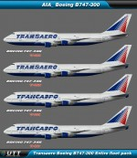 Boeing B747-300 Transaero (Entire fleet pack)