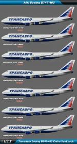 Boeing B747-400 Transaero (Entire fleet pack)