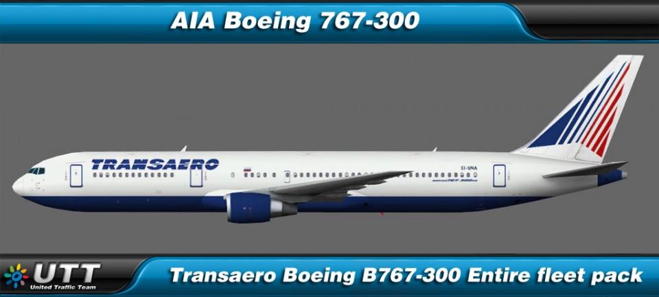 Boeing B767-300 Transaero (Entire fleet pack)