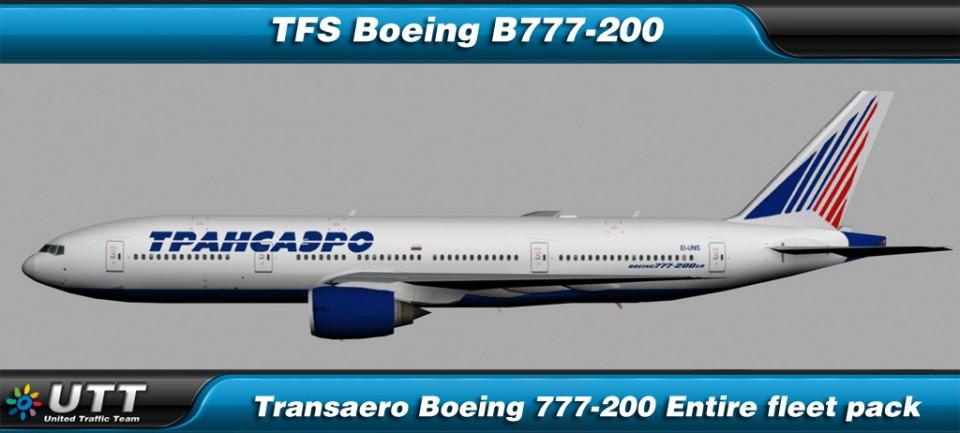 Boeing B777-200 Transaero (Entire fleet pack)