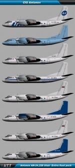 Antonov An-24,26 Utair Express (Entire fleet pack)