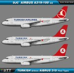 Turkish Airlines Airbus A319-100 Fleet types
