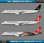 Turkish Airlines Airbus A321-200 Fleet types