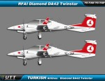 Turkish Airlines Flight Academy Dimond Twinstar fleet