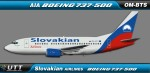 Slovakia Airlines Boeing 737-500 OM-BTS