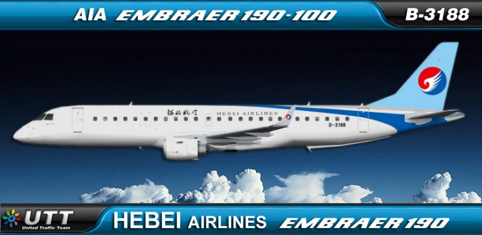 Hebei Airlines Embraer 190LR B-3188