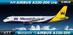 Monarch Airlines Airbus A320-200 G-MRJK New c/s