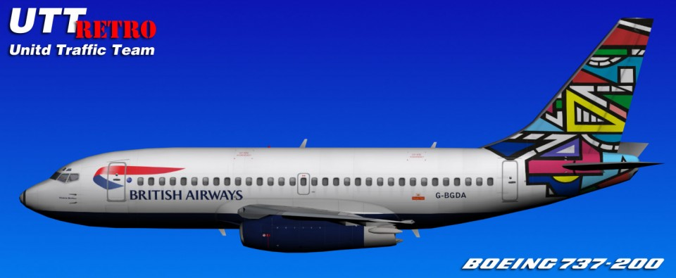 British Airways UTT Boeing 737-200 (G-BGDA) Retro