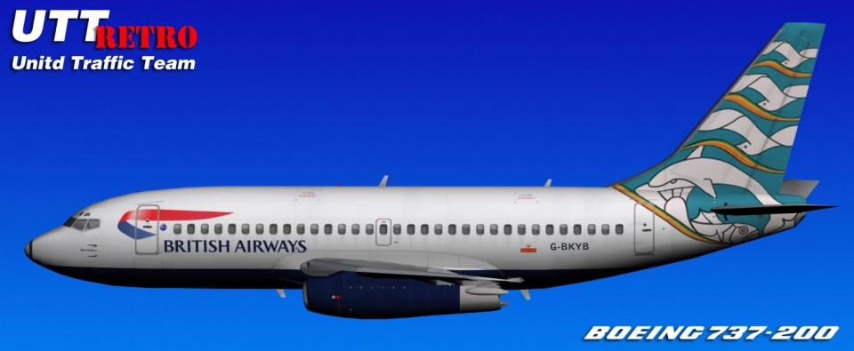 British Airways UTT Boeing 737-200 (G-BKYB) Retro