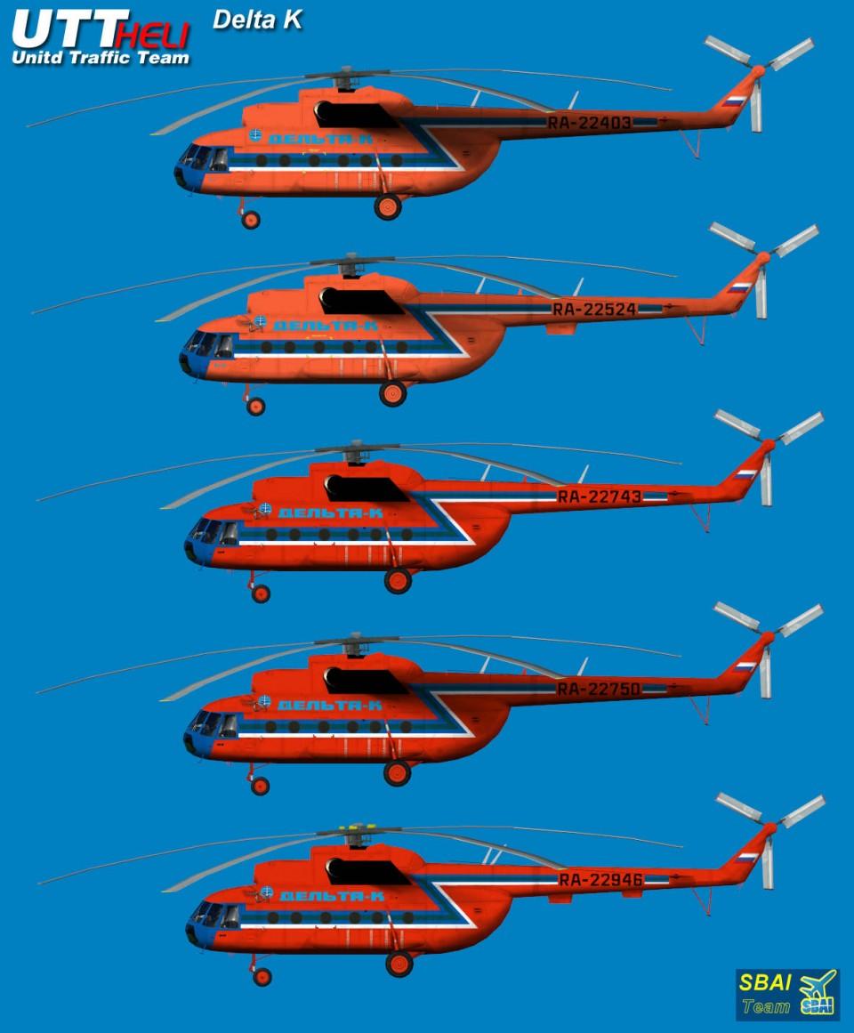 Delta K AI Helicopters Mi-8T