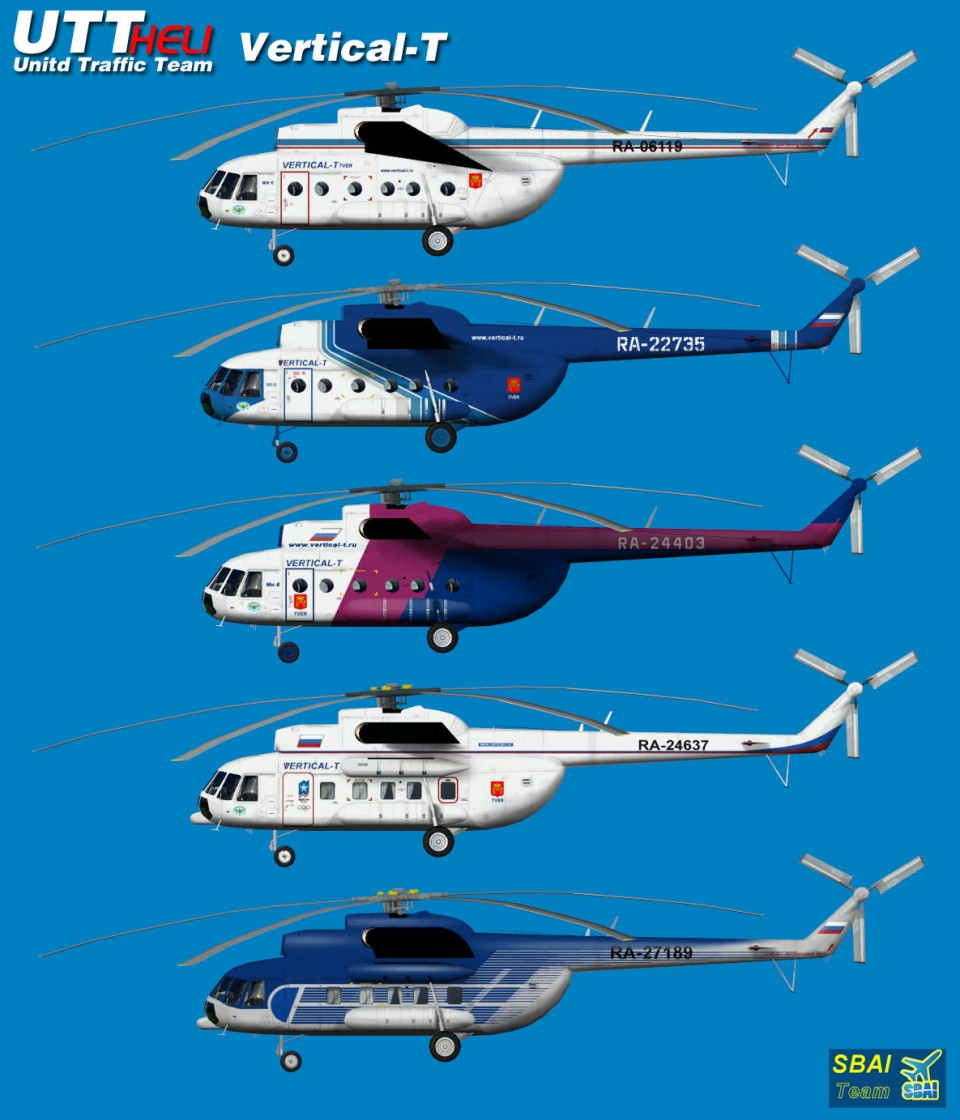 Vertical-T AI Helicopters Mi-8T
