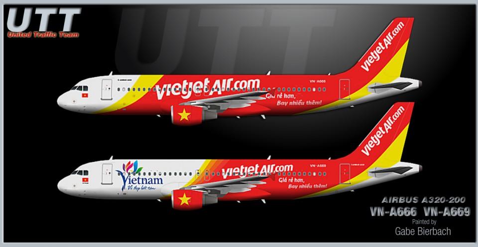 Vietjet Airbus A320-200 VN-A666 & VN-A669