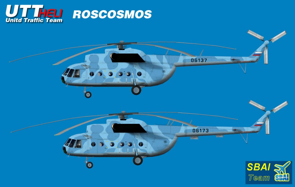 Roskosmos AI Helicopters Mi-8T