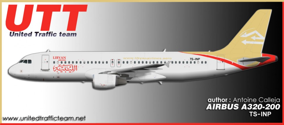 Libyan Airlines Airbus A320-200 TS-INP
