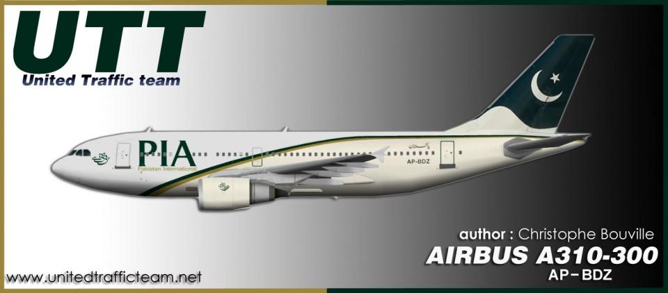 PIA Pakistan Airbus A310-300GE AP-BDZ