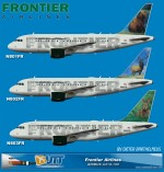 Frontier Airlines Airbus A318 (N801FR,N802FR,N803FR) (circa end of 2012)