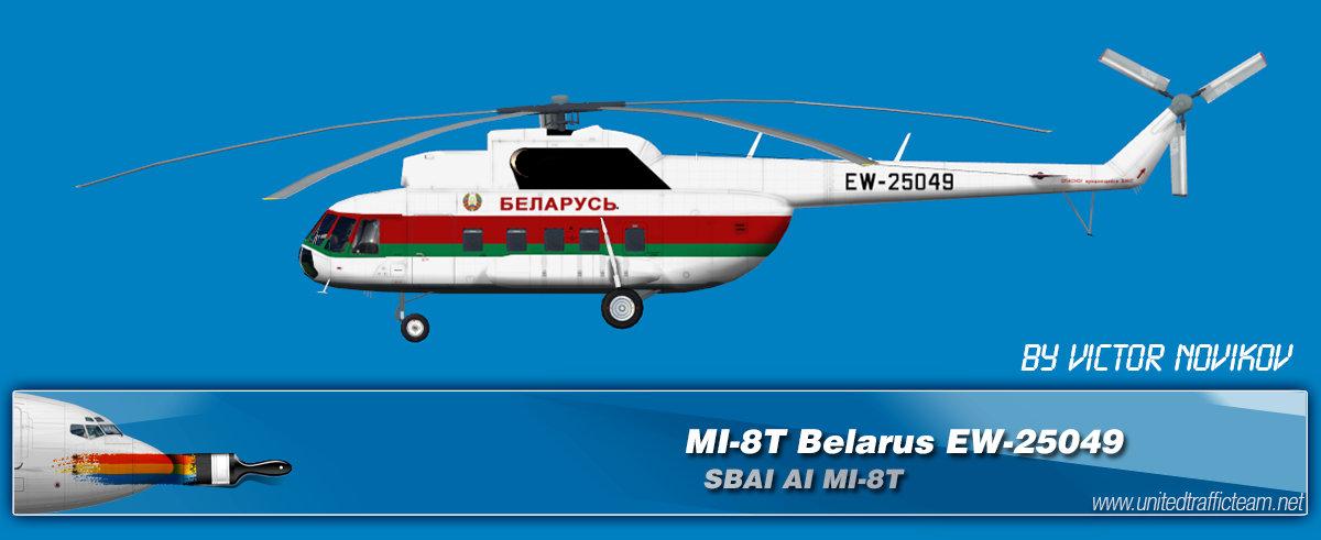 Belarus EW-25049 AI Helicopters Mi-8T