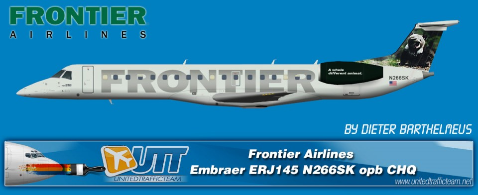 Frontier Airlines Embraer ERJ145 (N266SK) opb CHQ