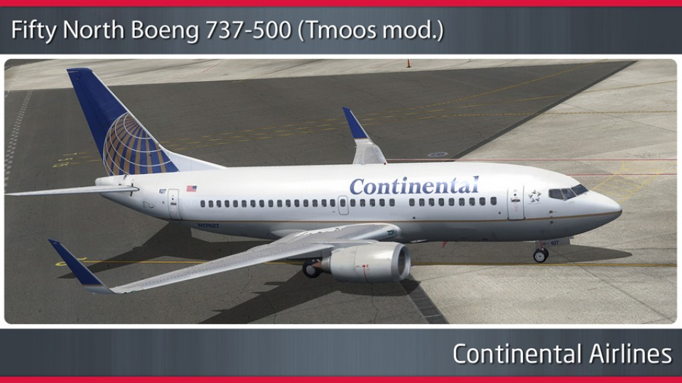Continental Airlines Boeing 737-500WL - N17627