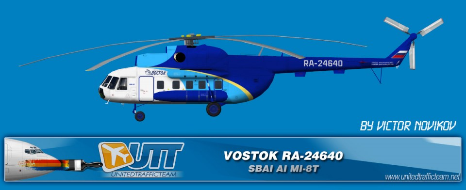 Vostok RA-24640 AI Helicopters Mi-8T
