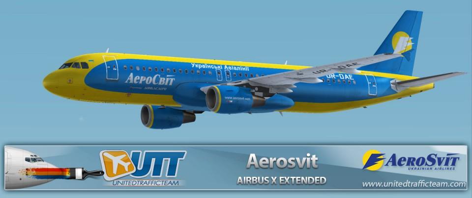 Airbus X Extended A320 Aerosvit UR-DAE