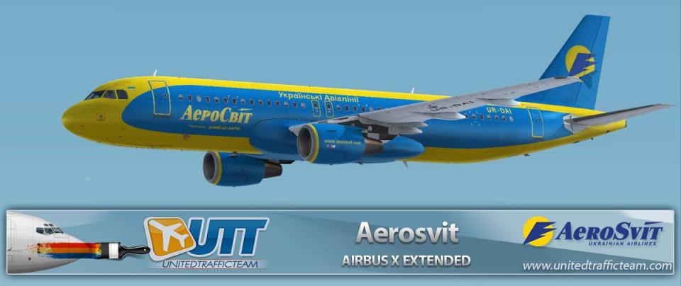 Airbus X Extended A320 Aerosvit UR-DAI