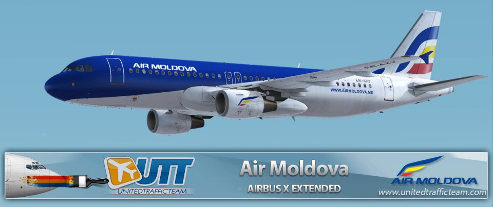 Airbus X Extended A320 Air Moldova ER-AXV