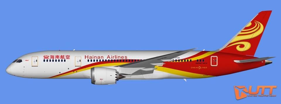 Hainan Airlines Boeing 787-8 Dreamliner (FSX,Prepar3D)