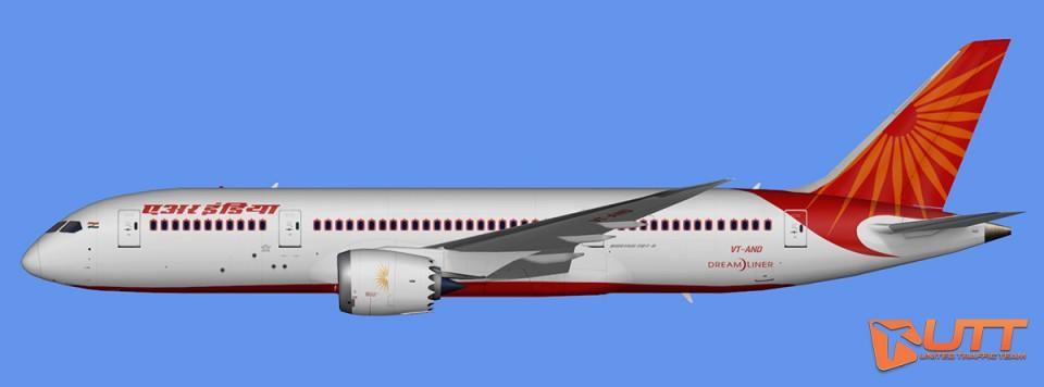 Air India Boeing 787-8 Dreamliner Pack