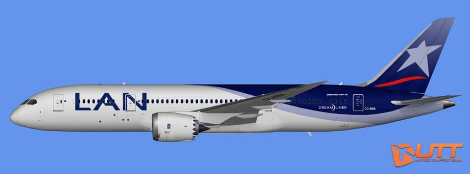 LAN Airlines Boeing 787-8 Dreamliner Pack (FSX,Prepar3D)