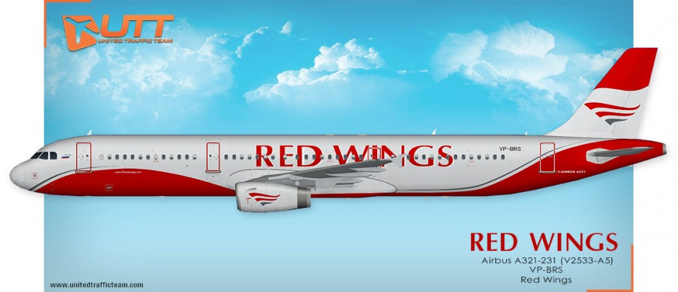 UTT Red Wings FAIB Airbus A321 VP-BRS
