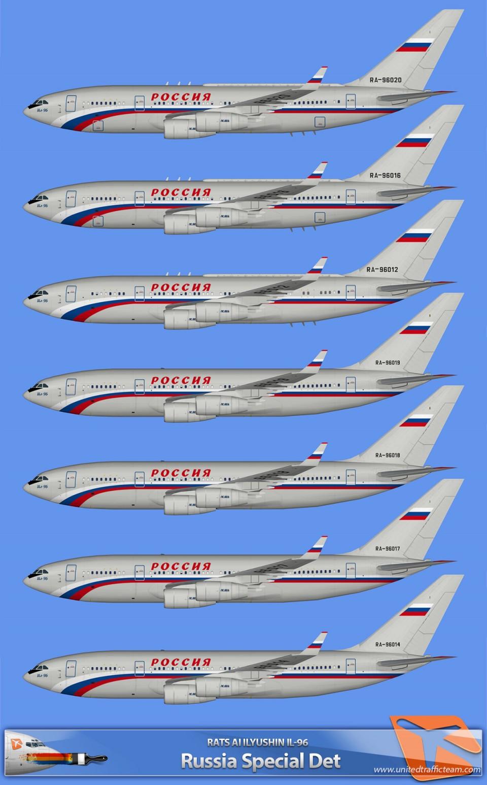 RATS AI Ilyushin Il-96-300 Russia Special Det