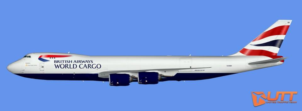 British Airways Boeing 747-8F (opt by Global Supply Systems) (FSX,Prepar3D)