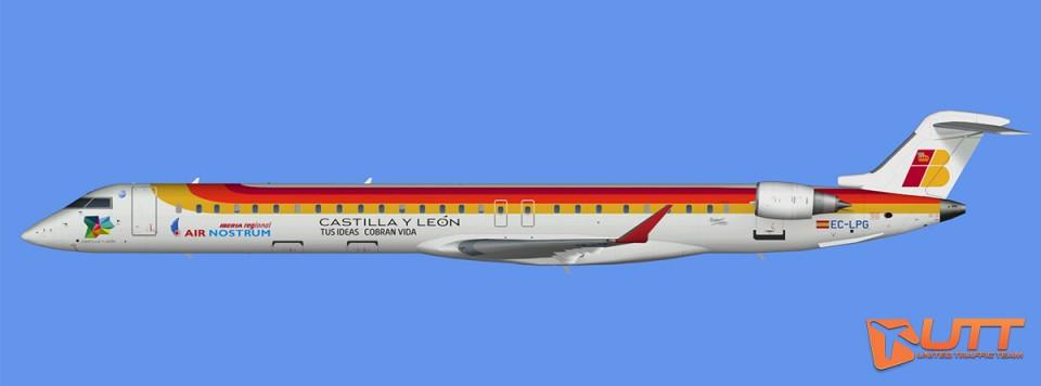 Air Nostrum CRJ-1000 representative fleet (FSX,Prepar3D)