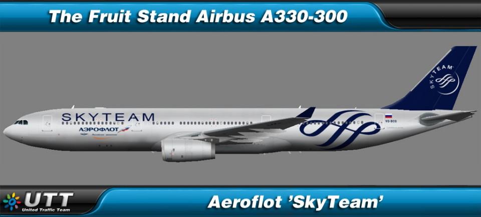Airbus A330-300 Aeroflot 'SkyTeam'