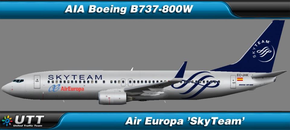 Boeing B737-800 wl Air Europa 'SkyTeam'