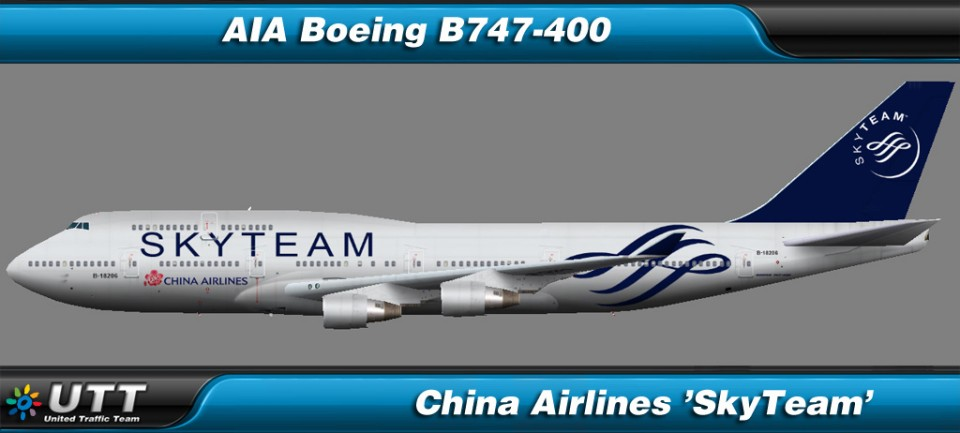 Boeing B747-400 China Airlines 'SkyTeam'