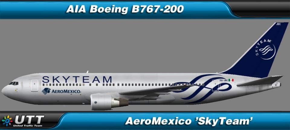 Boeing B767-200 AeroMexico 'SkyTeam'